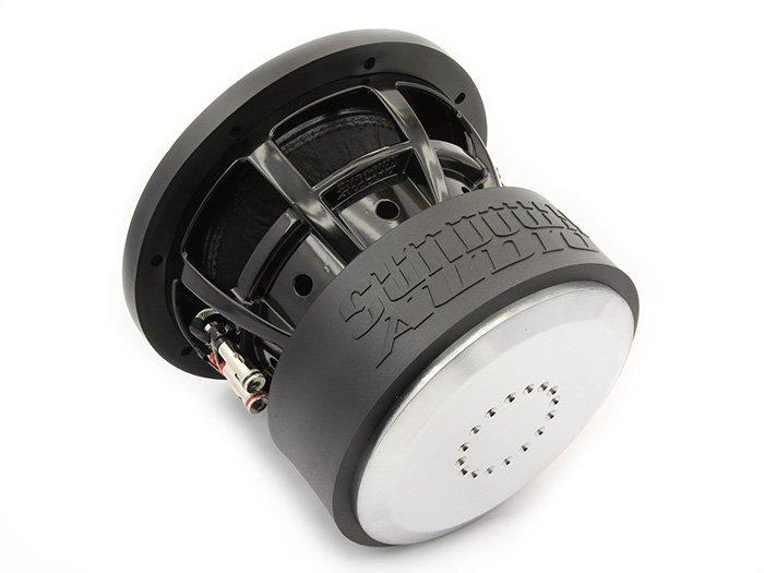 black and white car speaker