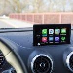 apple carplay screen in a car